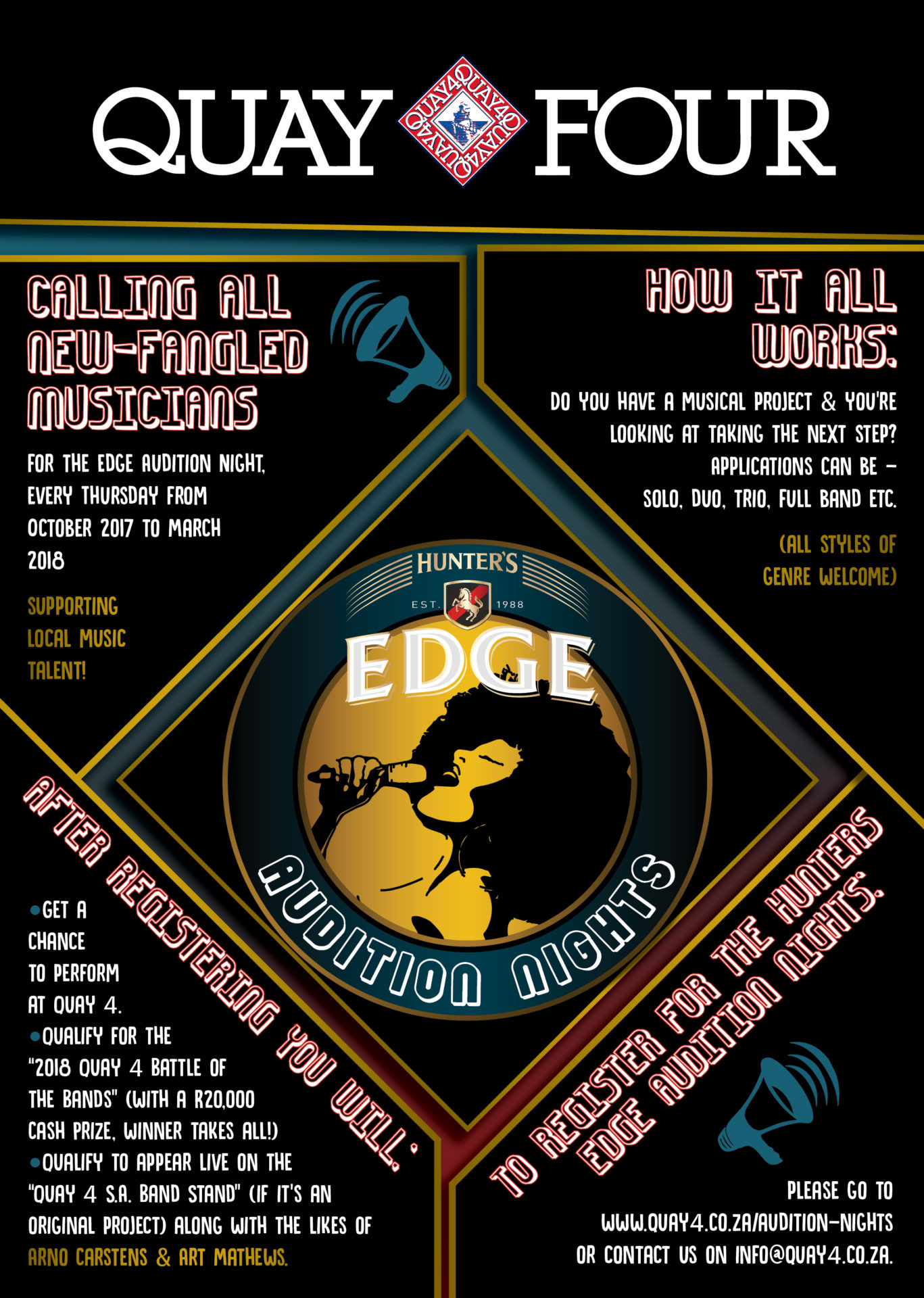 AUDITION NIGHTS CALLING ALL NEW FANGLED MUSICIANS For The Edge Audition Night Every Thursday From October 2017 To March 2018 Supporting Local